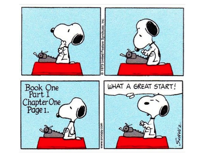 snoopy writing great start color